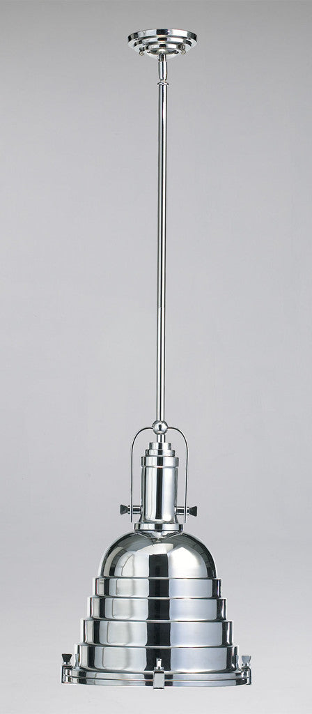 Elliot Pendant in Chrome or Oiled Bronze design by Cyan Design