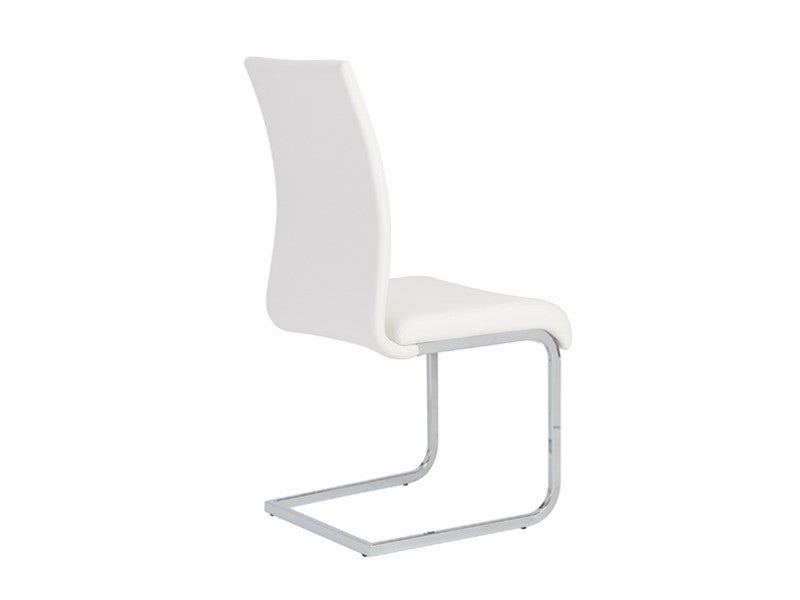 Set of Four Epifania Side Chairs in White design by Euro Style