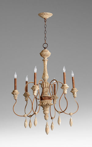 Alda 6 Lt. Chandelier design by Cyan Design