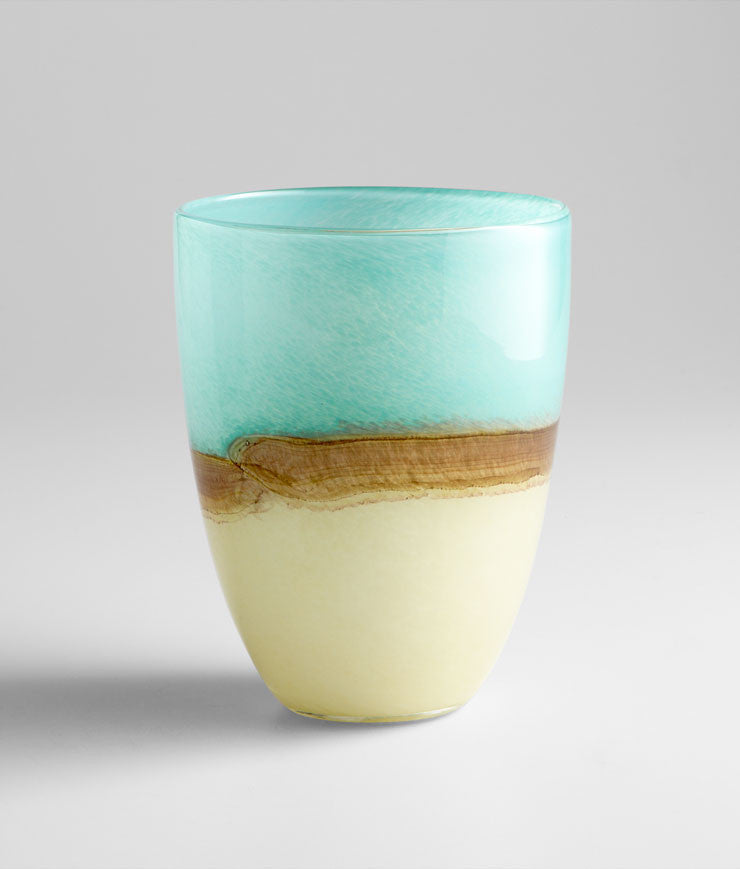Medium Turquoise Earth Vase design by Cyan Design