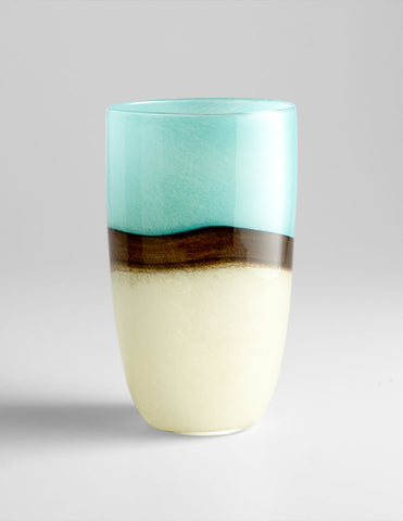 Large Turquoise Earth Vase
