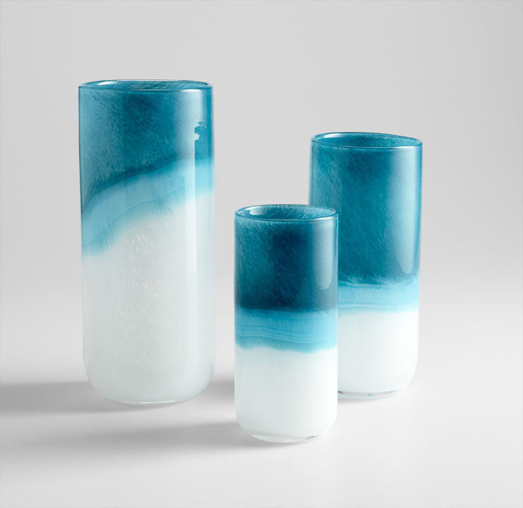 Medium Turquoise Cloud Vase design by Cyan Design