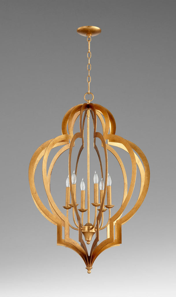 Large Vertigo Gold Leaf Chandelier design by Cyan Design