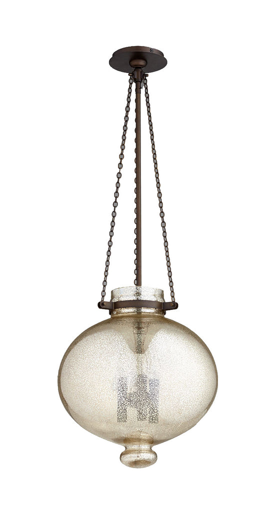 Cydney 3 Light Pendant in Oiled Bronze design by Cyan Design