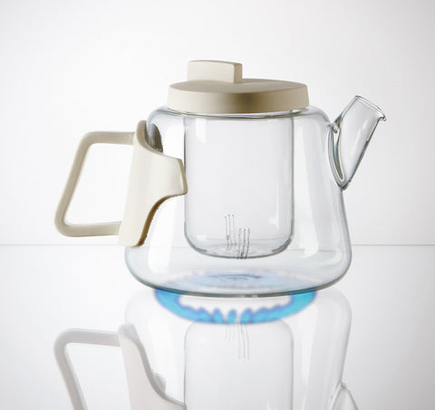 Era Glass & Porcelain Teapot design by Seletti