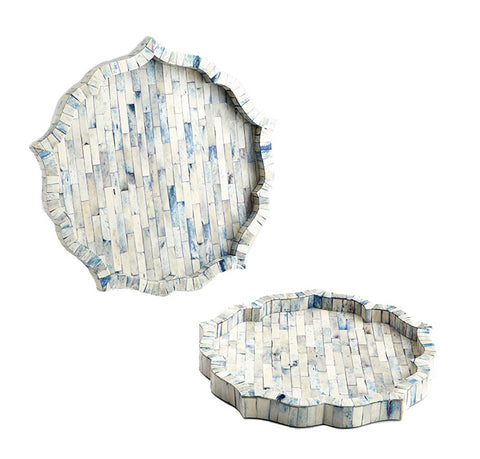 Large Mirage Tray in Blue design by Cyan Design