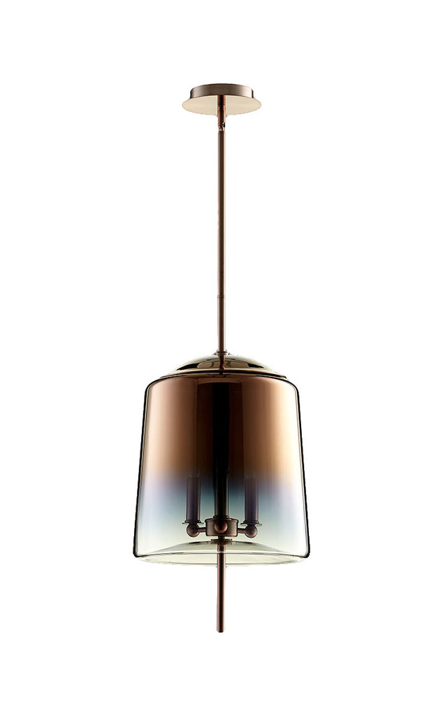 Lusterous 3 Light Pendant in Satin Copper design by Cyan Design