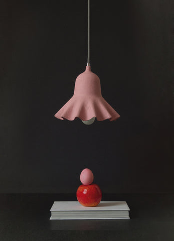 Egg of Columbus Suspended Carton Lamp in Pink design by Seletti