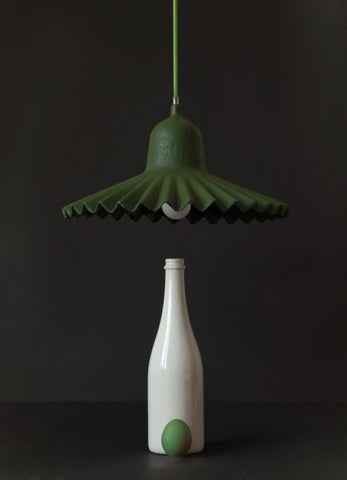 Egg of Columbus Suspended Carton Lamp in Green design by Seletti