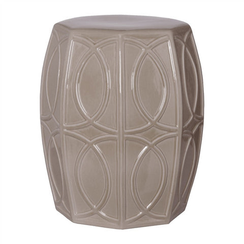 Treillage Garden Stool in Grey design by Emissary