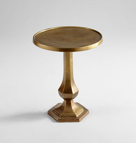Old Sport Side Table in Brass design by Cyan Design
