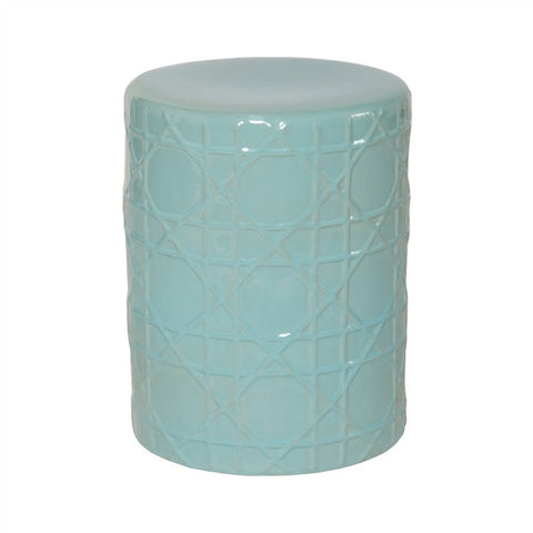 Cane Stool in Turquoise design by Emissary