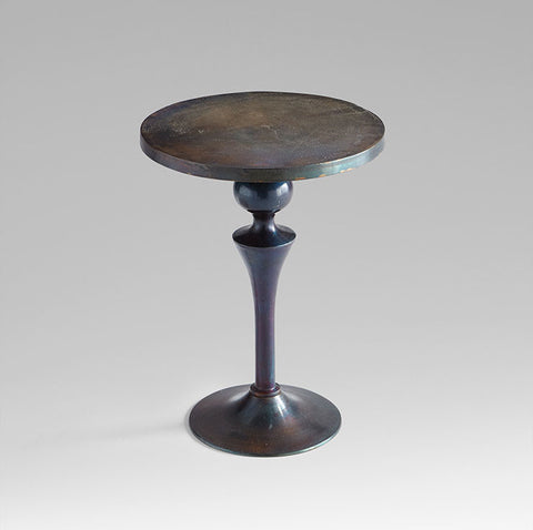 Gully Side Table in Bronze & Blue design by Cyan Design