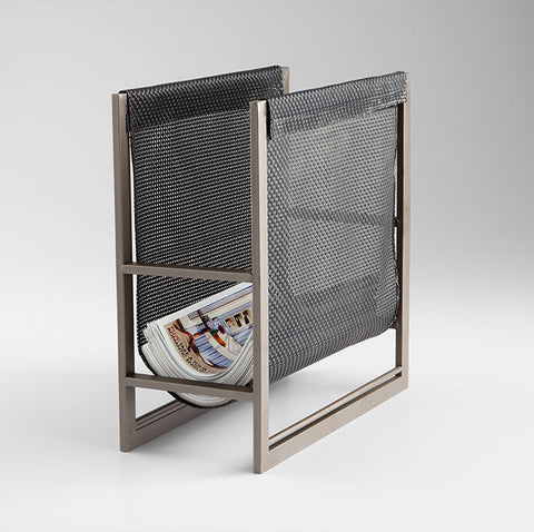 Mesh Magazine Rack design by Cyan Design