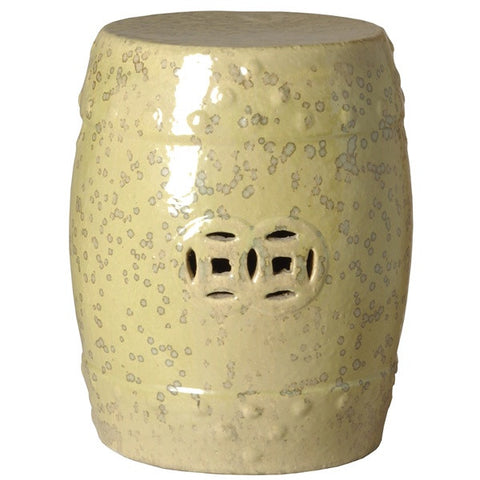 Classic Prosperity Garden Stool in Moss design by Emissary
