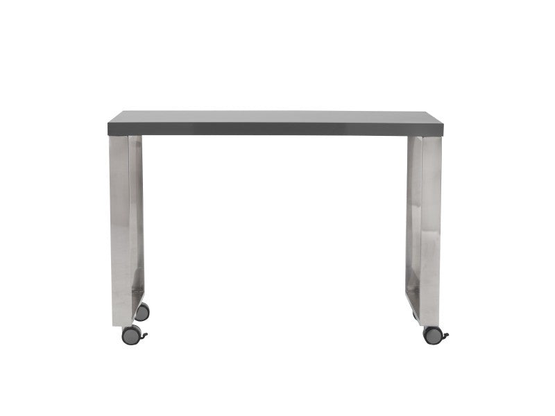 Dillon Side Return in Grey & Polished Stainless Steel design by Euro Style