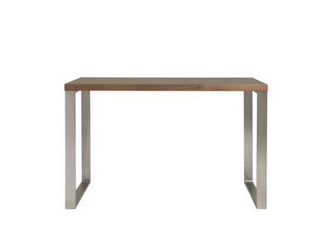 Dillon Desk in American Walnut & Brushed Stainless Steel design by Euro Style