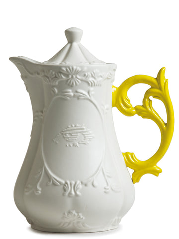 I-Tea Porcelain Teapot w/ Yellow Handle design by Seletti