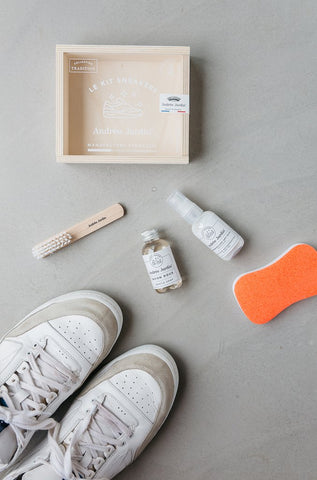 Andrée Jardin Sneaker Care Kit in Wooden Box