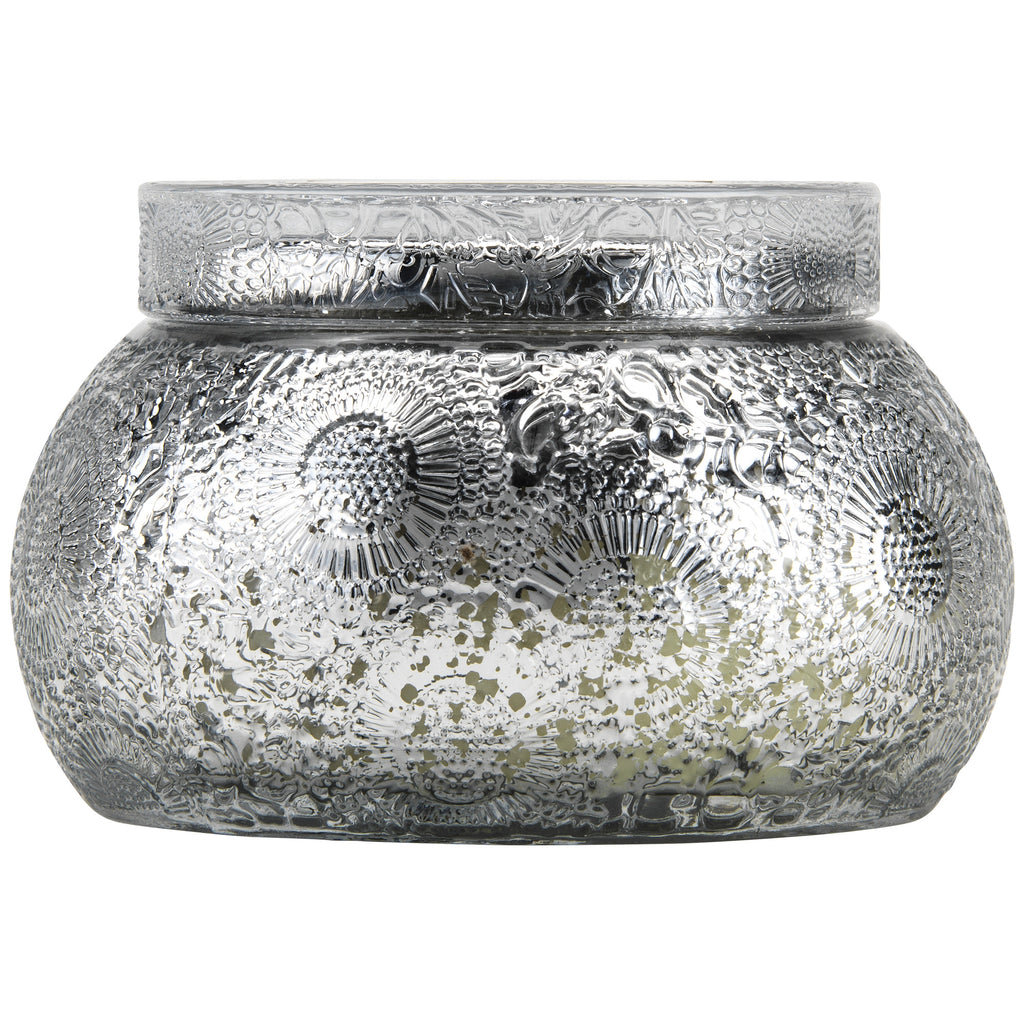 Chawan Bowl 2 Wick Embossed Glass Candle in Yashioka Gardenia design by Voluspa