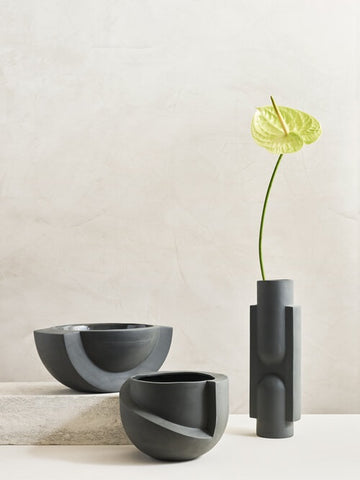 KALA Slender Ceramic Vase in Black design by Light and Ladder