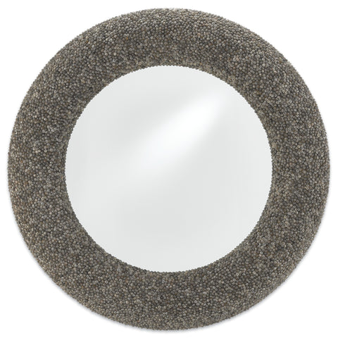 Batad Shell Round Mirror design by Currey & Company
