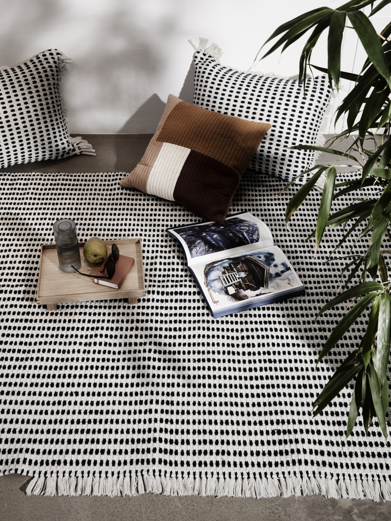 Way Rug in Off-White by Ferm Living