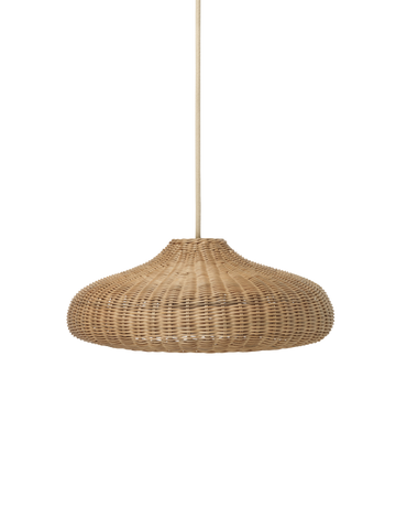 Braided Belly Lamp Shade - Natural by Ferm Living