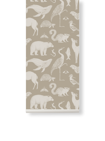 Katie Scott Wallpaper in Animal Sand