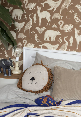 Katie Scott Wallpaper in Animals Toffee