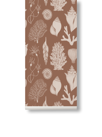 Katie Scott Wallpaper in Shells Toffee