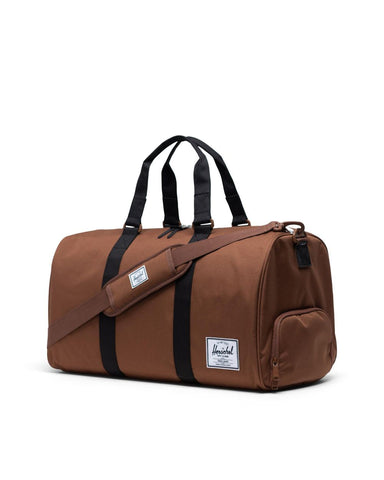 Novel Duffle in Black & Saddle Brown