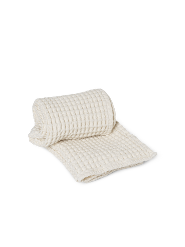 Organic Hand Towel in Off White by Ferm Living