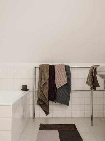 Organic Hand Towel in Dusty Rose by Ferm Living