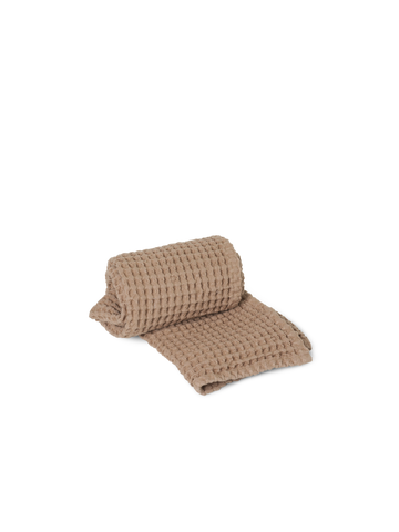 Organic Hand Towel in Tan by Ferm Living