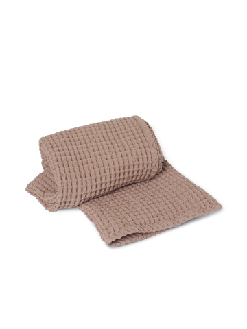 Organic Bath Towel in Dusty Rose by Ferm Living