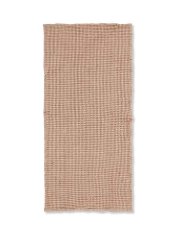 Organic Bath Towel in Tan by Ferm Living