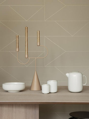 Lines Wallpaper in Cashmere by Ferm Living