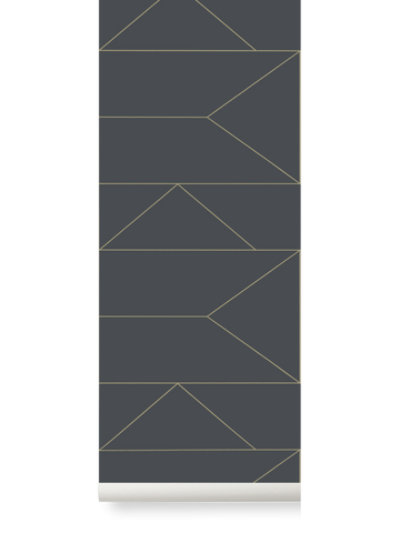 Lines Wallpaper in Graphite by Ferm Living
