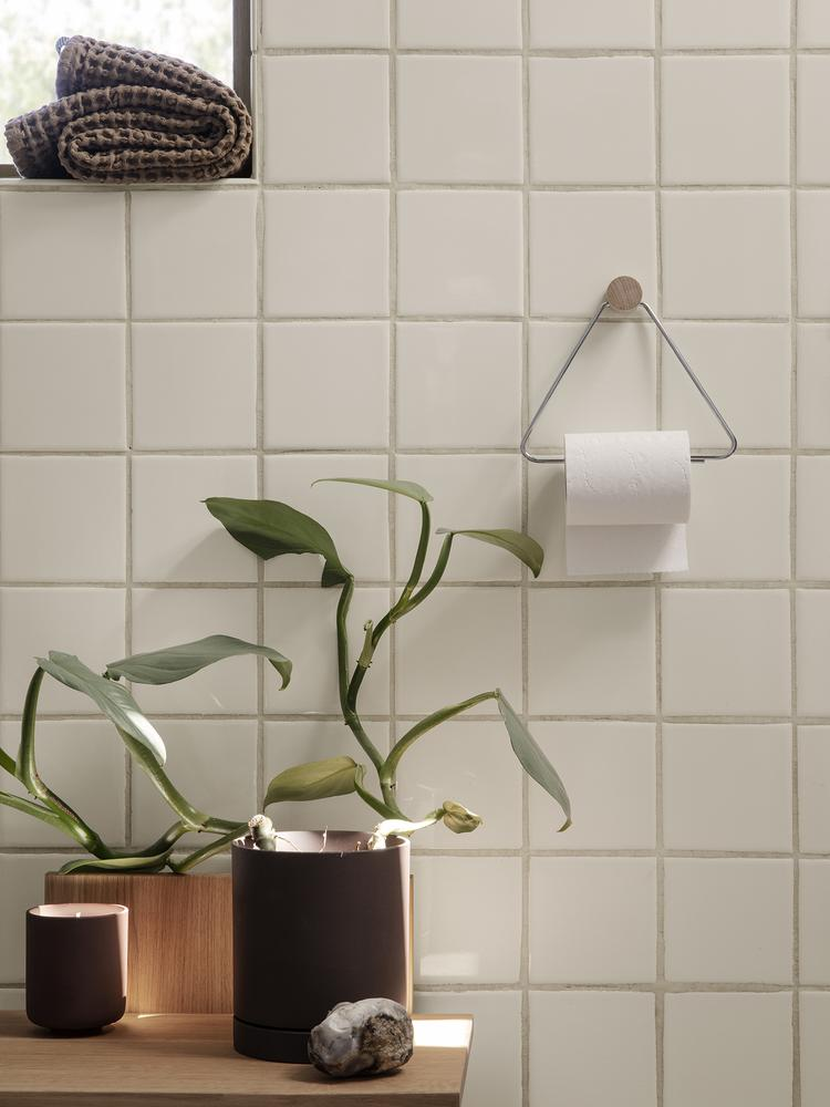 Toilet Paper Holder in Chrome by Ferm Living
