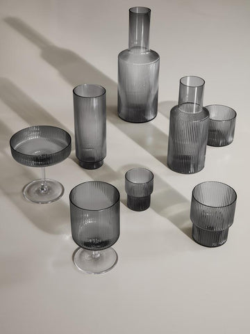 Ripple Small Glasses (Set of 4) by Ferm Living