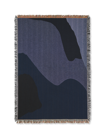 Vista Blanket in Dark Blue by Ferm Living