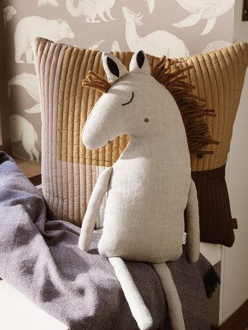 Safari Cushion Horse in Natural by Ferm Living