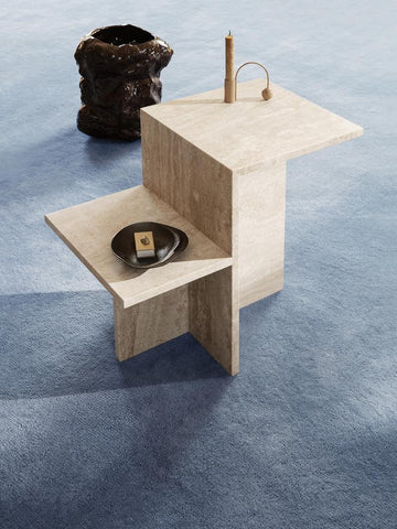 Distinct Side Table in Travertine by Ferm Living