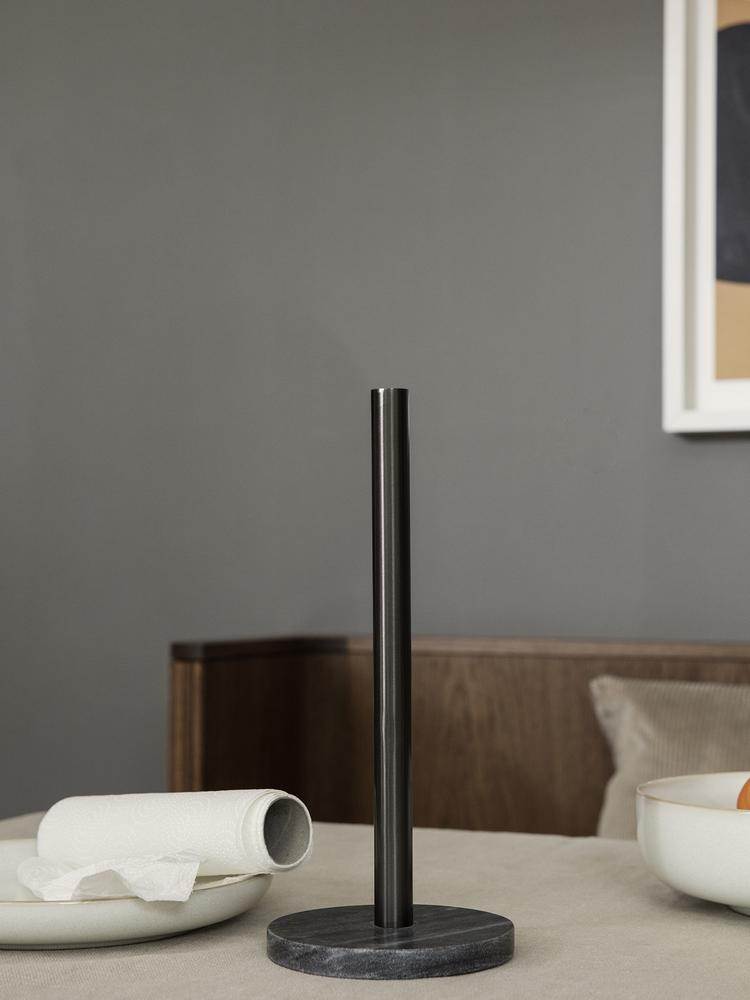 Paper Towel Holder in Black Brass by Ferm Living