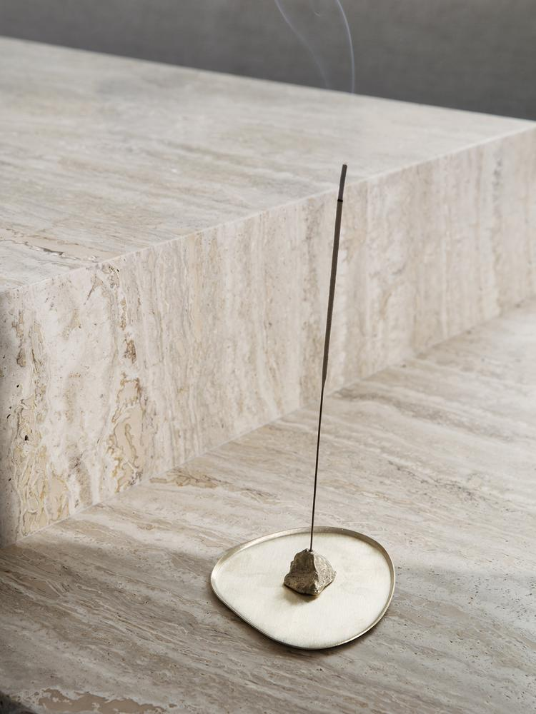 Stone Incense Burner in Brass by Ferm Living