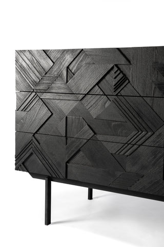 Teak Graphic Chest of Drawers