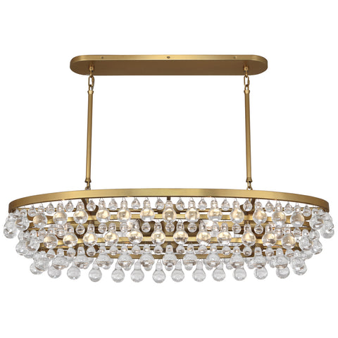 Bling Chandelier in Antique Brass by Robert Abbey