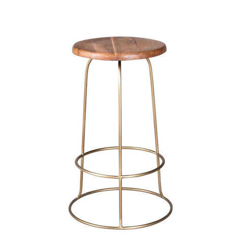 Wilco Counter Stool in Brass design by Blackhouse