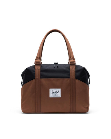 Strand Tote in Black & Saddle Brown